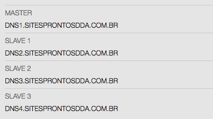servidores dns sites prontos dda