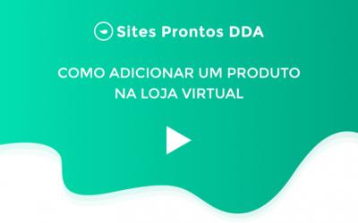 Como adicionar um produto na Loja Virtual