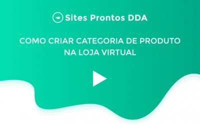 Como criar categoria de produto na Loja Virtual