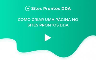Como criar uma página nos Sites Prontos DDA