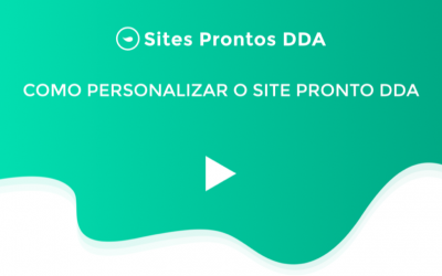 Como Personalizar o Site Pronto DDA