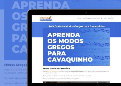Landing Article, Site e Páginas de Venda do Curso Aprenda Cavaquinho - www.aprendacavaquinho.com