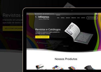 Site da Gráfica Digital Infor Press - www.ifpress.com.br